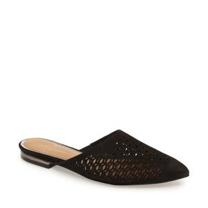 Linea Paolo Pointed Toe Suede Perforated Mule